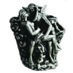 Держатель зубных щеток Art Max Romantic AM-0081B-T в цвете серебро ➦ Vanna-retro.ru