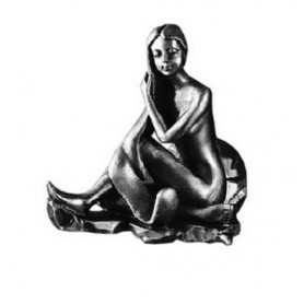 Крючок Art Max Juno AM-0712-T в цвете серебро ➦ Vanna-retro.ru