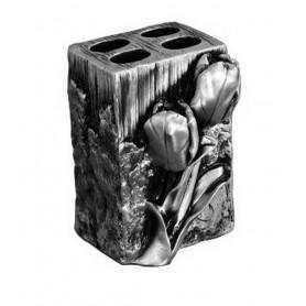 Подставка для зубных щеток Art&Max Tulip AM-0082B-T в цвете серебро ➦ Vanna-retro.ru