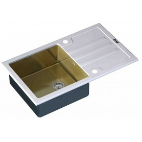 Мойка Zorg Inox Glass GL-7851-WHITE-BRONZE ➦ Vanna-retro.ru