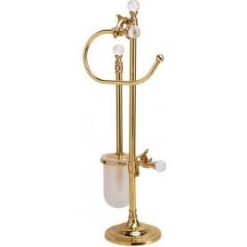 Стойка напольная Art Max Barocco Crystal AM-1948-Do-Ant цвет античное золото ➦