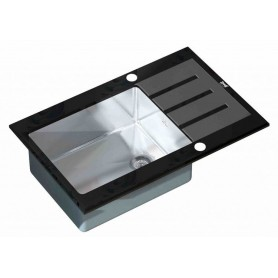 Мойка Zorg Inox Glass GL-7851-BLACK ➦ Vanna-retro.ru