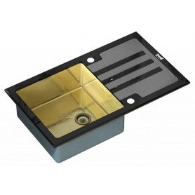 Мойка Zorg Inox Glass GL-7851-BLACK Inox Bronze ➦ Vanna-retro.ru