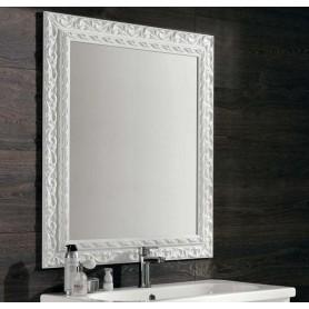 Зеркало Eban Barocco FCRBK098-B цвет белый 98х70 ➦ Vanna-retro.ru