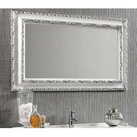 Зеркало Eban Marica FCRMK090-B цвет серебро / белый 90х70 ➦ Vanna-retro.ru