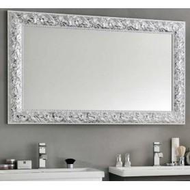 Зеркало Eban Oliva FCROL090-B цвет серебро / белый 90х70 ➦ Vanna-retro.ru
