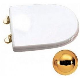 Сидения для унитаза Cezares King Palace CZR-163-M-S-G (белое / золото) с