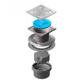 Трап водосток Pestan Confluo Standard Vertical Square 150*150 мм нержавеющая сталь без рамки 13000019