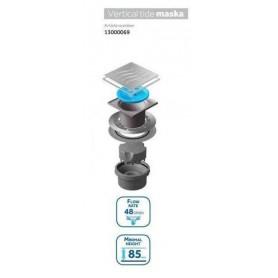 Трап водосток Pestan Confluo Standard Vertical Tide Mask 150*150 мм нержавеющая сталь с рамкой 13000074