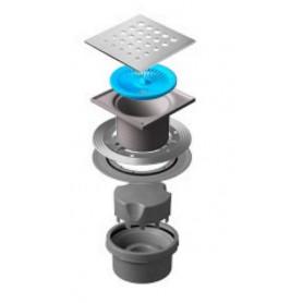 Трап водосток Pestan Confluo Standard Vertical Drops 150*150 мм нержавеющая сталь без рамки 13000020