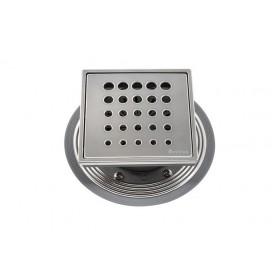 Трап водосток Pestan Confluo Standard Vertical Drops Mask 150*150 мм нержавеющая сталь с рамкой 13000075