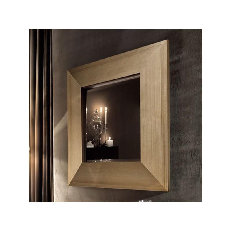 Зеркало в деревянной раме Kerasan Bentley 918148 в цвете хемлок
