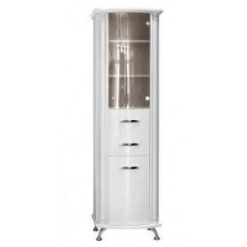 Шкаф-колона Белюкс Ария 50 с корзиной для белья в белом цвете