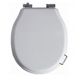 Сидение с микролифтом для унитаза Simas Lante LA 006 белое, петли хром ➦