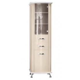 Шкаф-колонка Белюкс Ария 50 с корзиной для белья в бежевом цвете