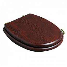 Деревянное сидение для унитаза Simas Lante LA 005G орех, петли золото ➦
