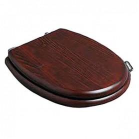 Деревянное сидение с микролифтом для унитаза Simas Lante LA 008 орех, петли хром ➦