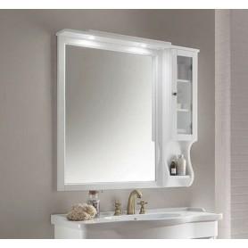 Зеркало со шкафчиком Eban Arianna / Eleonora / Federica, цвет белый, 102х104
