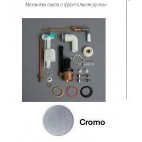 Механизм слива Samas D24Ch с фронтальной ручкой в цвете хром (ручка белая)