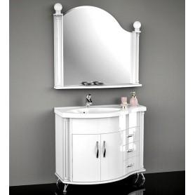 Мебель для ванной Белюкс Ария 110 в белом цвете