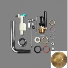 Механизм слива с трубой Simas D23Br в цвете бронза (ручка белая)