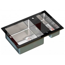 Мойка Zorg Inox Glass GL-8051-2-BLACK ➦ Vanna-retro.ru