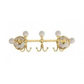 Планка с тремя крючками Migliore Provance, ML.PRO-60539DO, цвет: золото