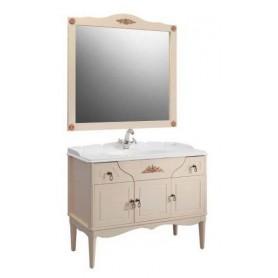 Мебель для ванной Белюкс Верди 105 в цвете слоновая кость с патиной