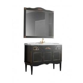 Мебель для ванной Белюкс Верди 105 в черном цвете с патиной