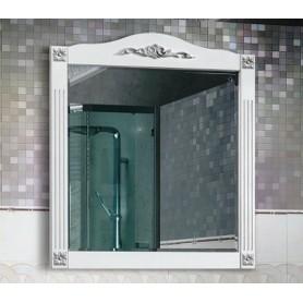 Зеркало Белюкс Империя 85 белый матовый / патина серебро