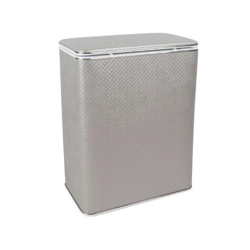 Корзина для белья Geralis PHH-B серебро, хром, стандартная ➦