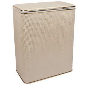 Корзина для белья Geralis RWG-B белая, золото, стандартная
