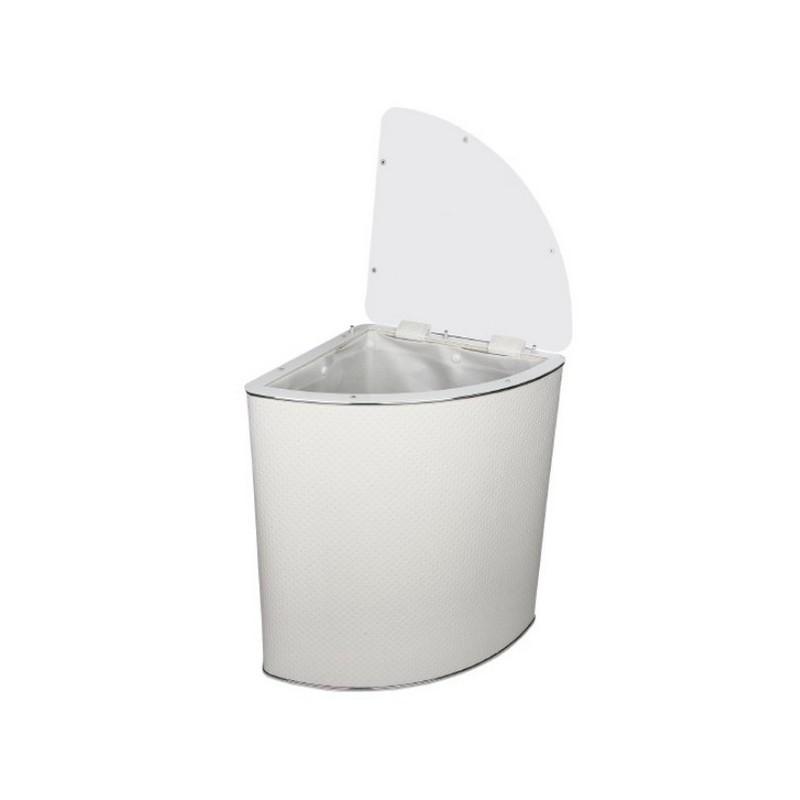 Корзина для белья Geralis PWH-U белая, хром, угловая ➦