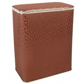 Корзина для белья Geralis FCG-B шоколад, золото, стандартная ➦