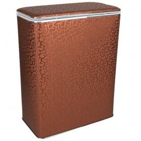 Корзина для белья Geralis FCH-B шоколад, хром, стандартная ➦