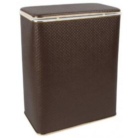 Корзина для белья Geralis PCG-M шоколад, золото, малая