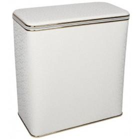 Корзина для белья Geralis FWG-M флористика, белая, золото, малая