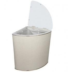 Корзина для белья Geralis RWG-U ромб белый, золото, угловая ➦