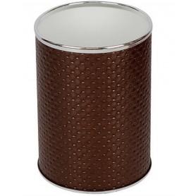 Мусорное ведро Geralis M-PCH-B шоколад, хром, 3 л -