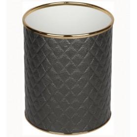 Мусорное ведро Geralis M-CBG-S черное, золото, 7,5 л -