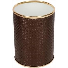 Мусорное ведро Geralis M-PCG-S шоколад, золото, 7,5 л -