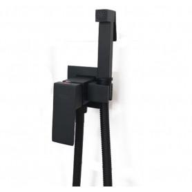 Гигиенический душ Grohenberg GB002 черный в комплекте со встраиваемым смесителем