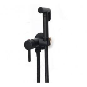 Гигиенический душ Grohenberg GB001 черный в комплекте со встраиваемым смесителем