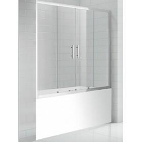Шторка на ванну Cezares Eco-O-VF-2 170х145 стекло прозрачное