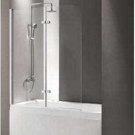 Шторка на ванну Cezares Eco-O-V-21 120х140 стекло прозрачное
