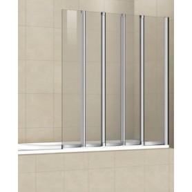 Шторка на ванну Cezares Pratico-O-V-5 120х140 стекло прозрачное