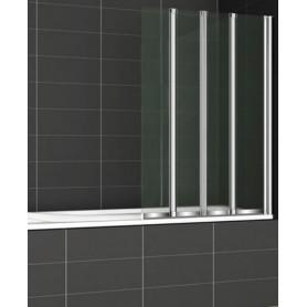 Шторка на ванну Cezares Pratico-O-V-4 100х140 стекло матовое