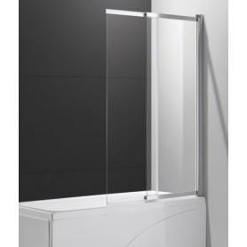 Шторка на ванну Cezares SLIDER-VF-11-90/150 стекло прозрачное