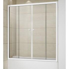 Шторка на ванну Cezares RELAX-VF-2-150/145 профиль белый стекло прозрачное