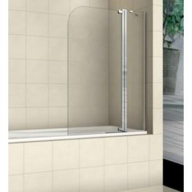 Шторка для ванной WeltWasser WW100 100T2-100 стекло прозрачное